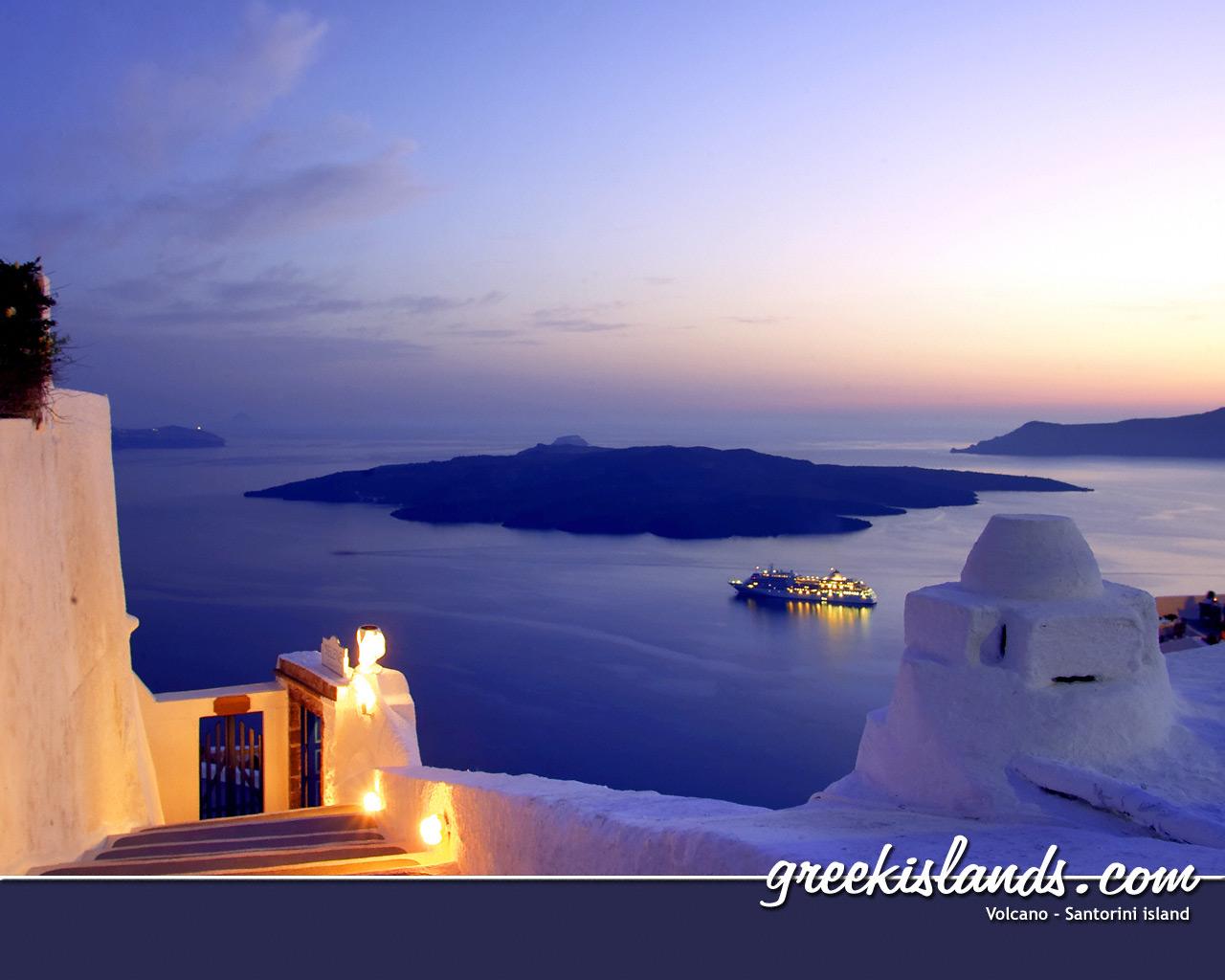wallpaper santorini greece island - photo #35