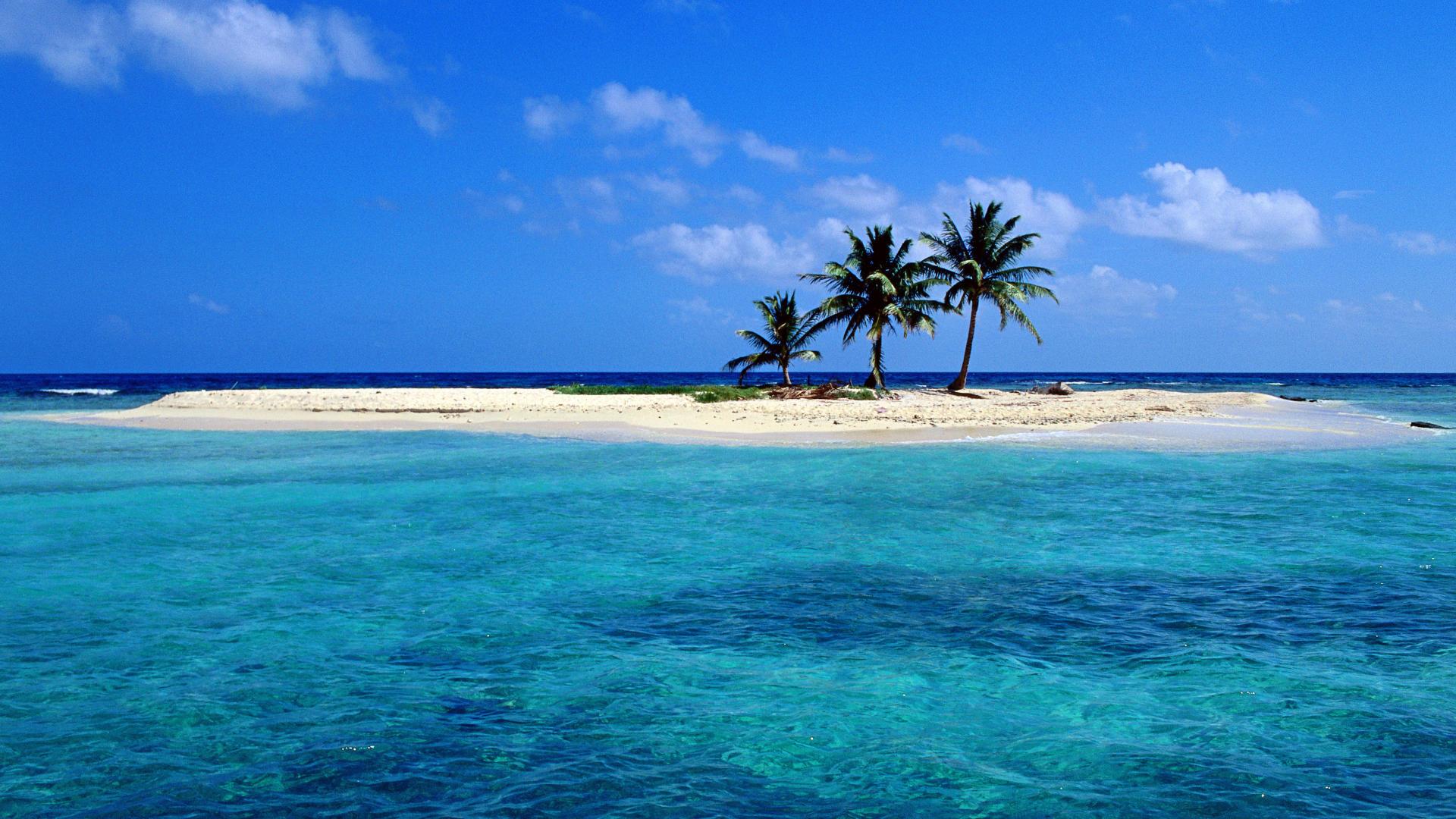 Beach Desktop Backgrounds and Wallpaper   Sandy Island off Lighthouse 1920x1080