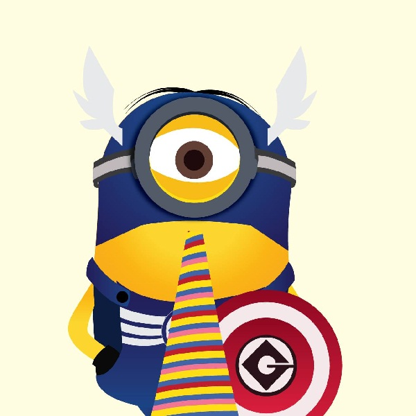 Cute Minion Captain America Trust Me Im A Superhero 600x600