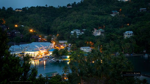 Caribbean Wallpaper Wednesday Marigot Bay St Lucia and the Gift of 610x343