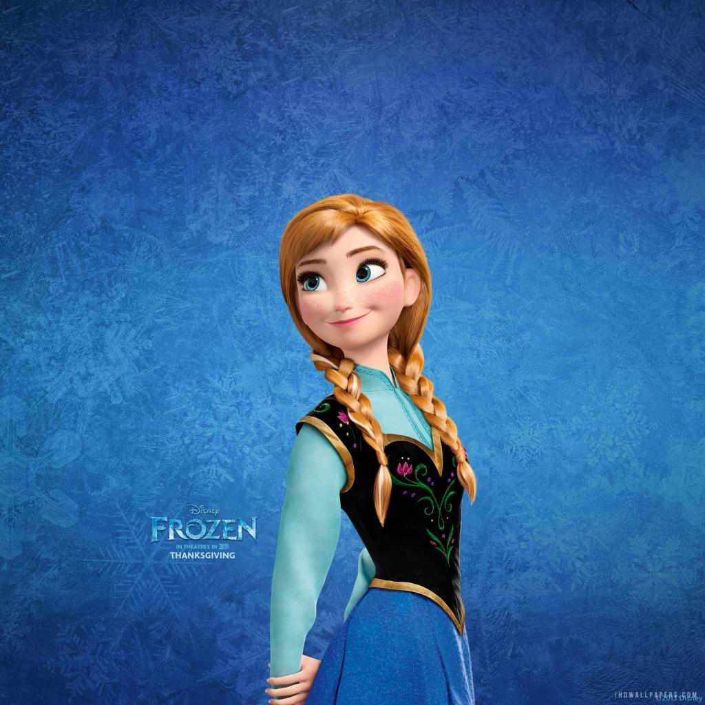 Anna in Frozen HD Wallpaper   iHD Wallpapers 1024x1024