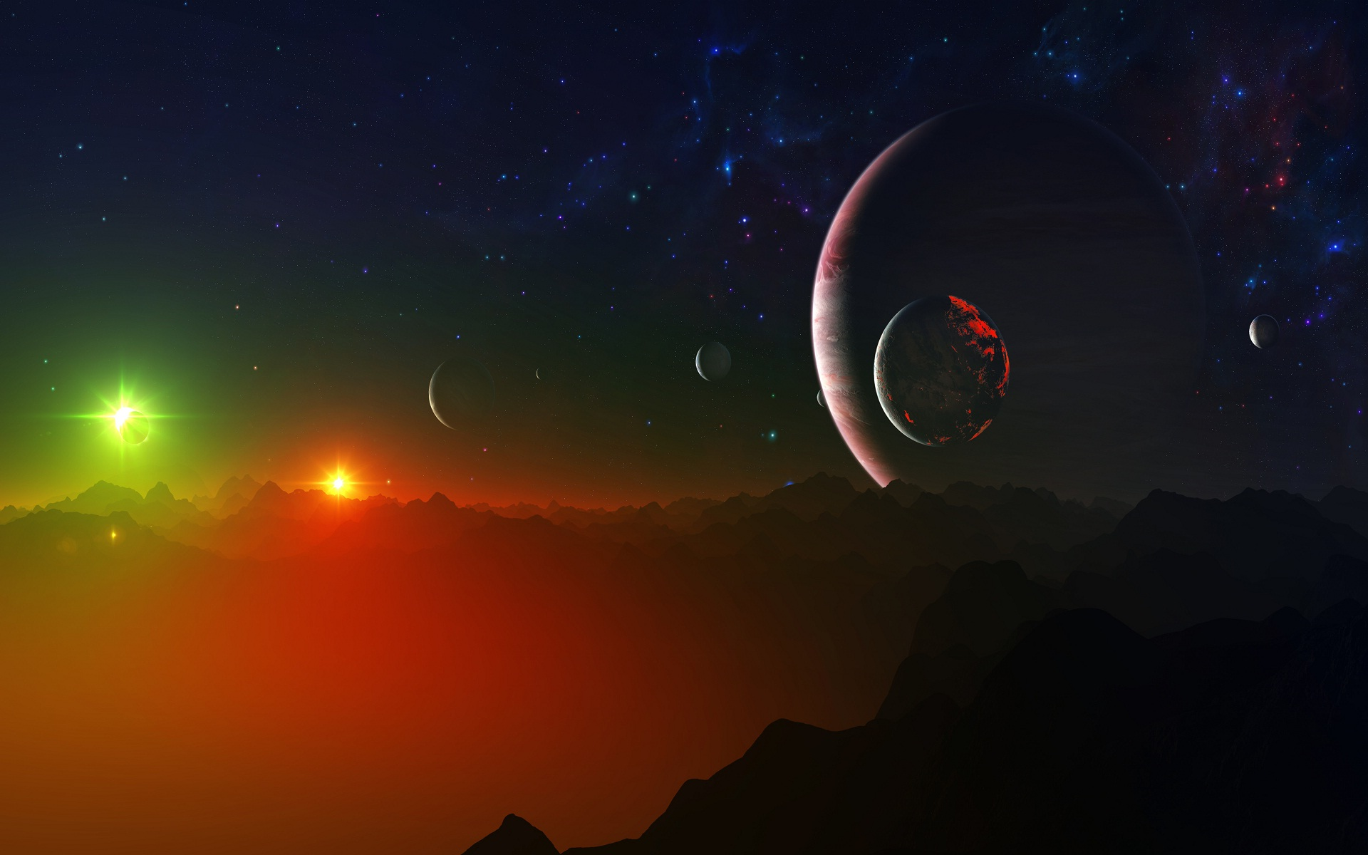 Good night galaxy 3D wallpaper HD Wallpapers Rocks 1920x1200