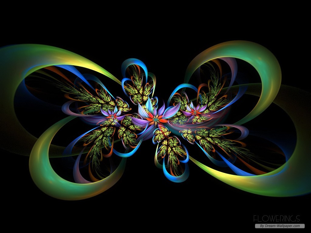 Free Download Flower Wallpaper Creative Fractal Art