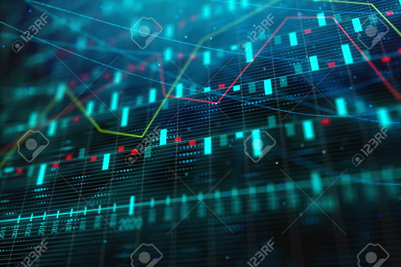 Creative Blue Forex Background Technology Future Forecasting 1300x866