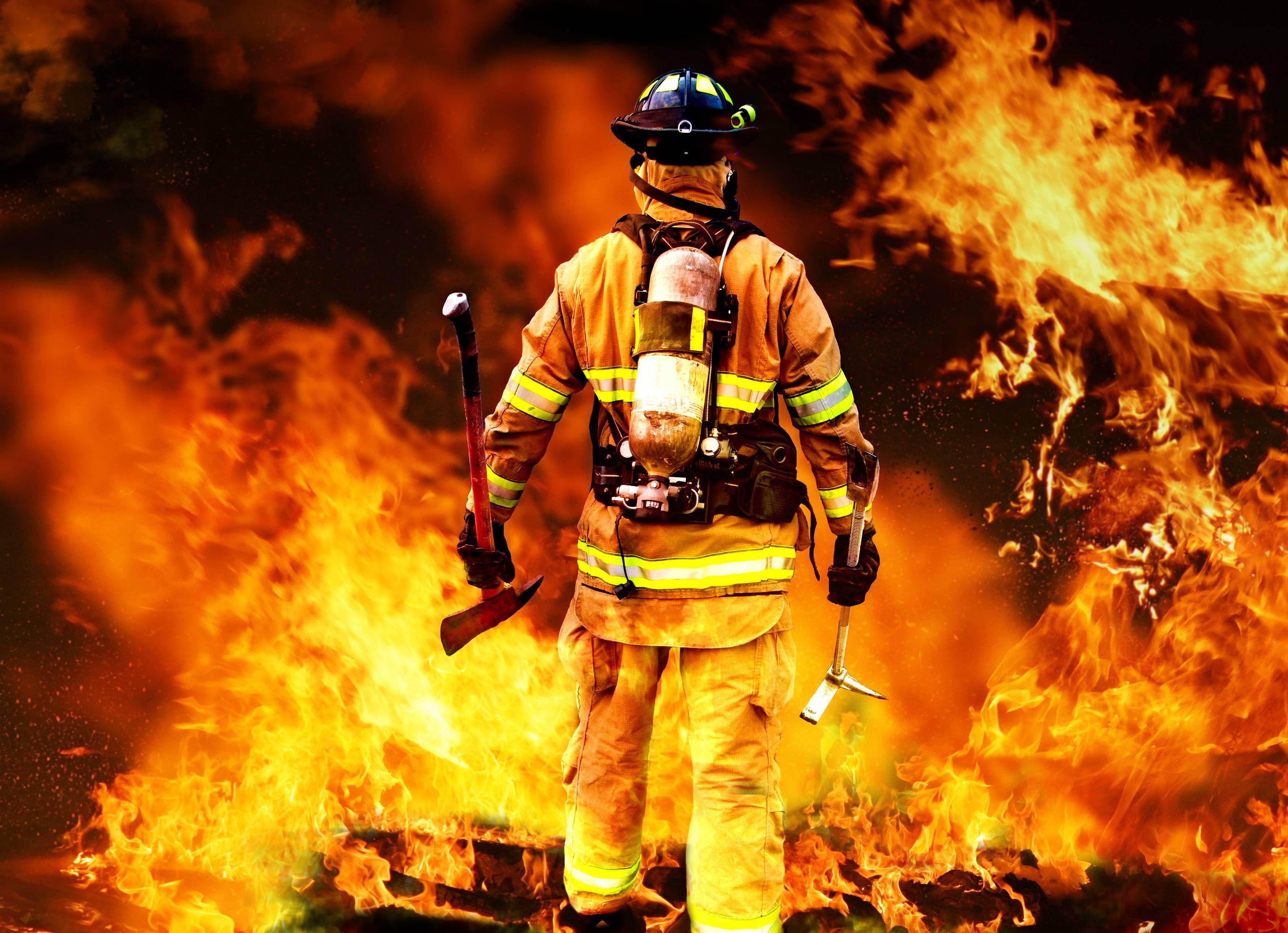 Firefighter Wallpaper Firefighter Volunteer firefighter Fire 3499x2534