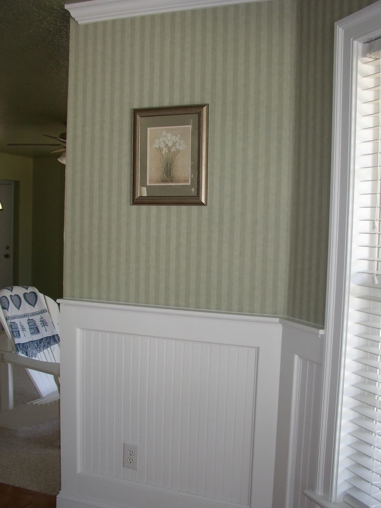 Dining room wallpaper with wainscoting wallpapersafari for Dining room paneling