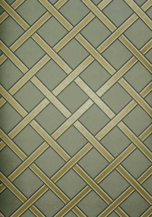 Gilt Trellis Wallpaper Duck egg wallpaper with gold trellis 534x760