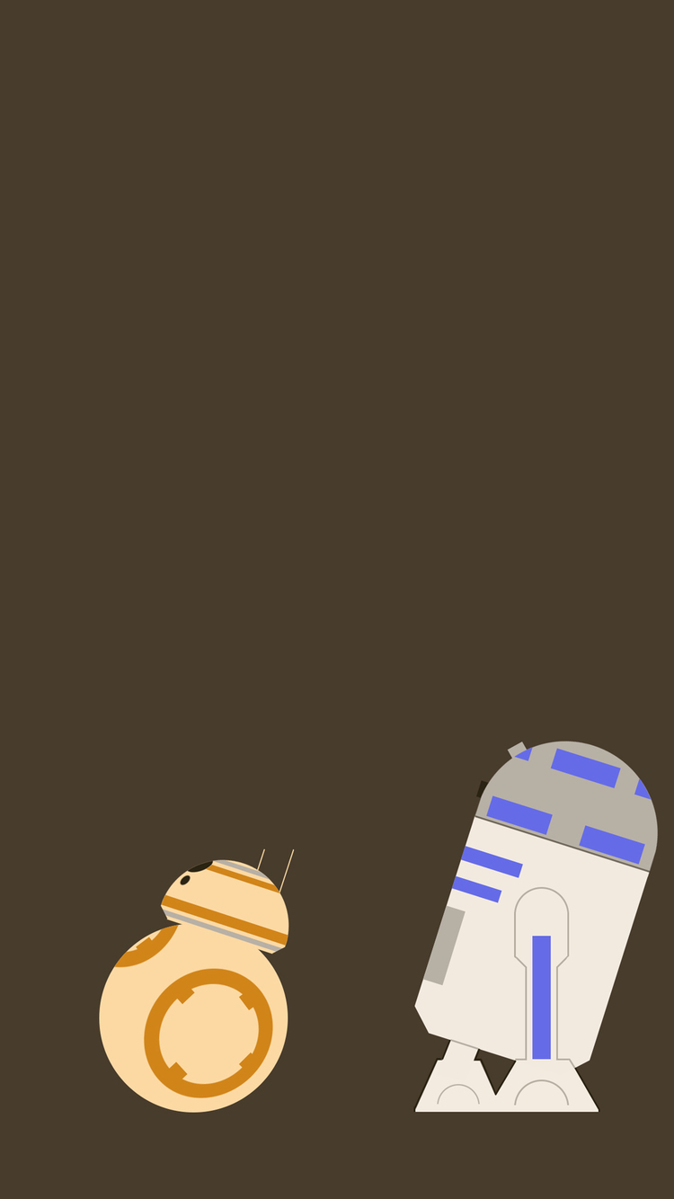 BB8 R2D2 IPhone Wallpaper HD 750x1334