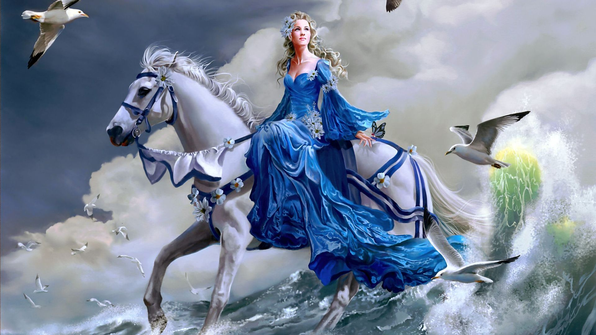 3d fantasy art wallpapers women wallpapersafari for Exclusive 3d wallpaper