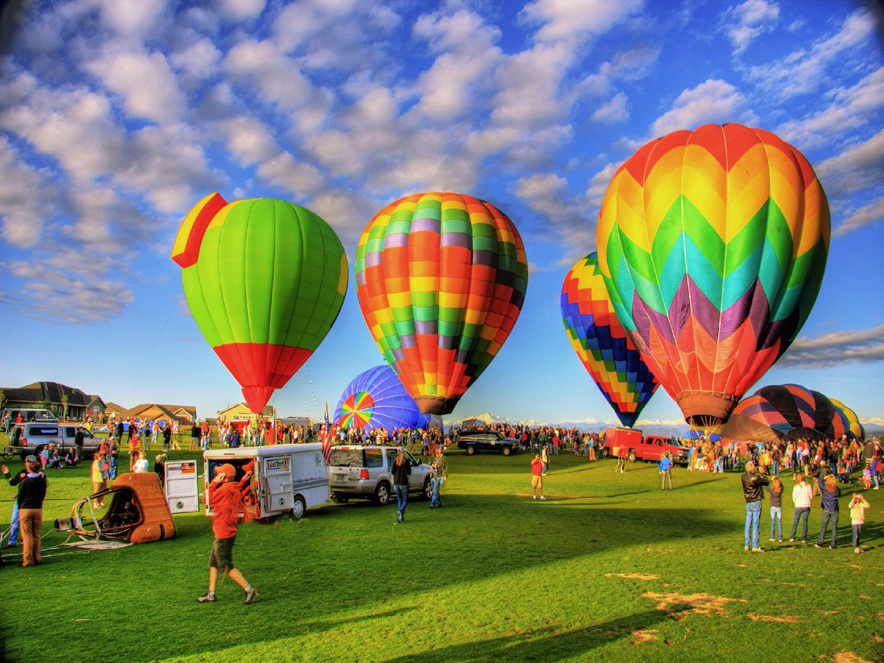 Colorful Hot Air Balloons Wallpapers 1280x960