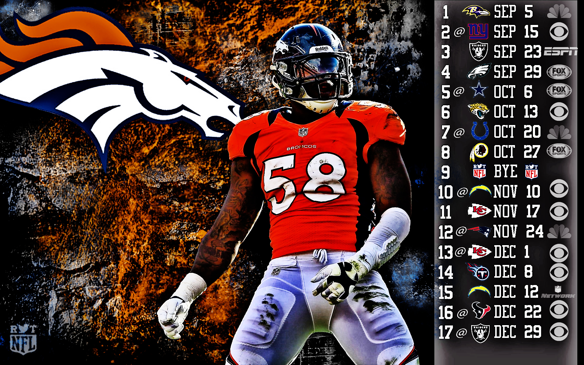 Denver broncos wallpaper hd impremedia denver broncos schedule wallpaper wallpapersafari voltagebd Image collections