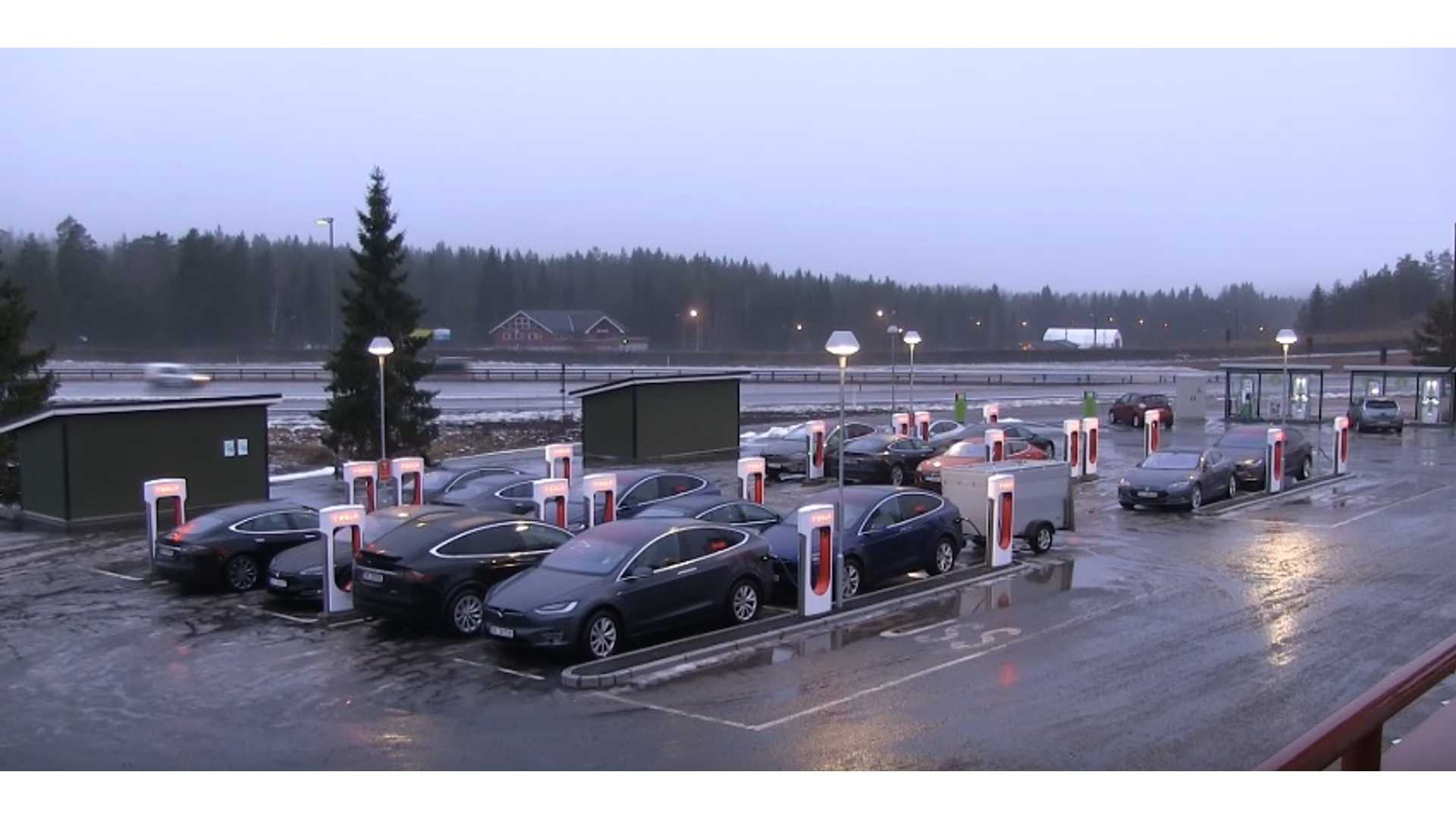 Timelapse Video Of Busy Supercharger Site 1920x1080