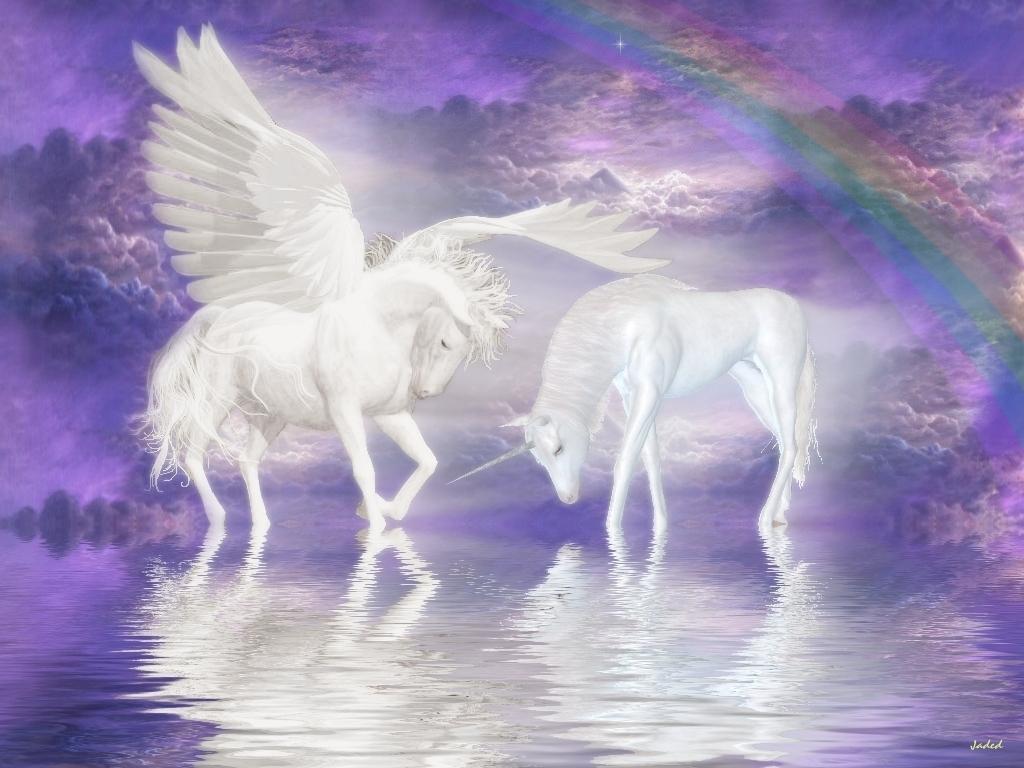 Unicorn and Pegasus Wallpaper   Unicorns Wallpaper 6414665 1024x768