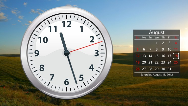 заставка на рабочий стол часы и календарь № 180377 бесплатно