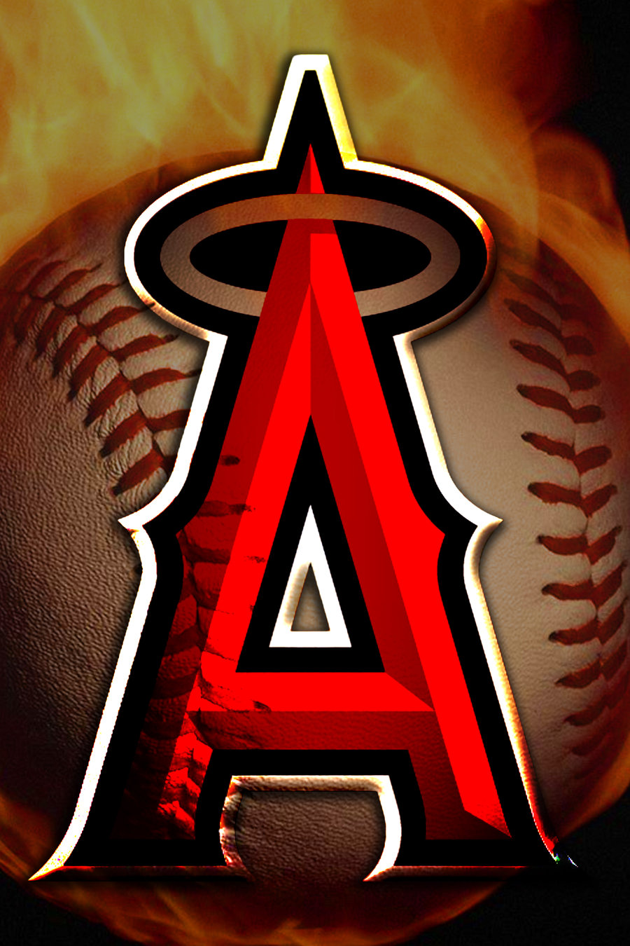 HD Los Angeles Angels of Anaheim Logo Wallpapers 900x1350