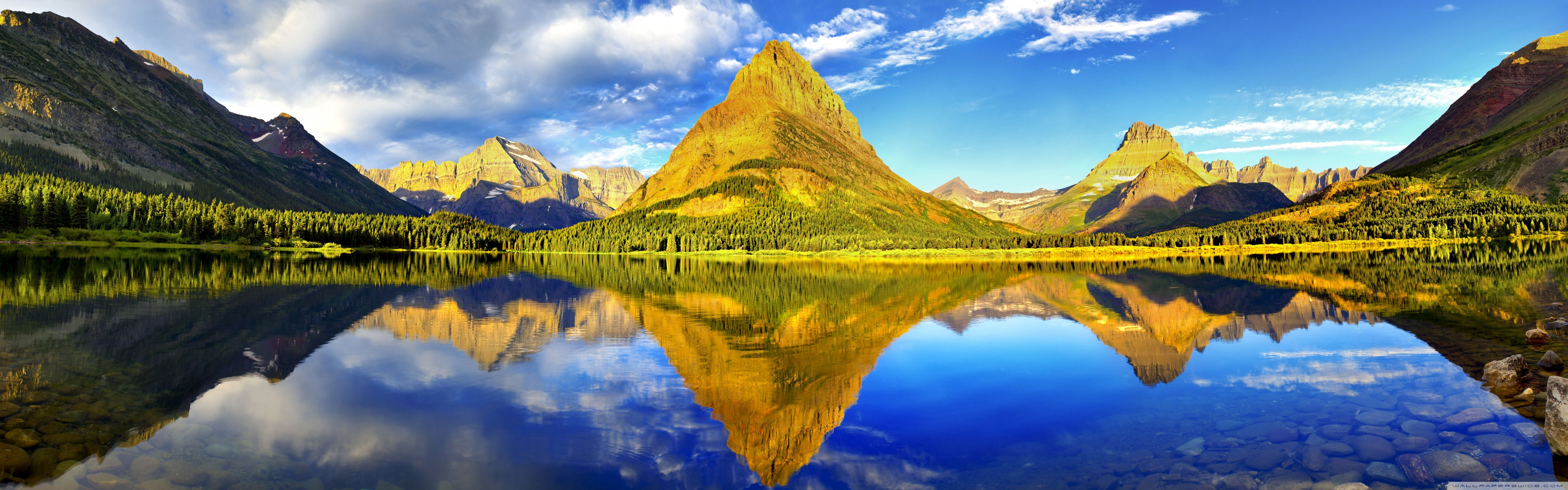 Glacier National Park Panorama 4K HD Desktop Wallpaper for 4K 5120x1600