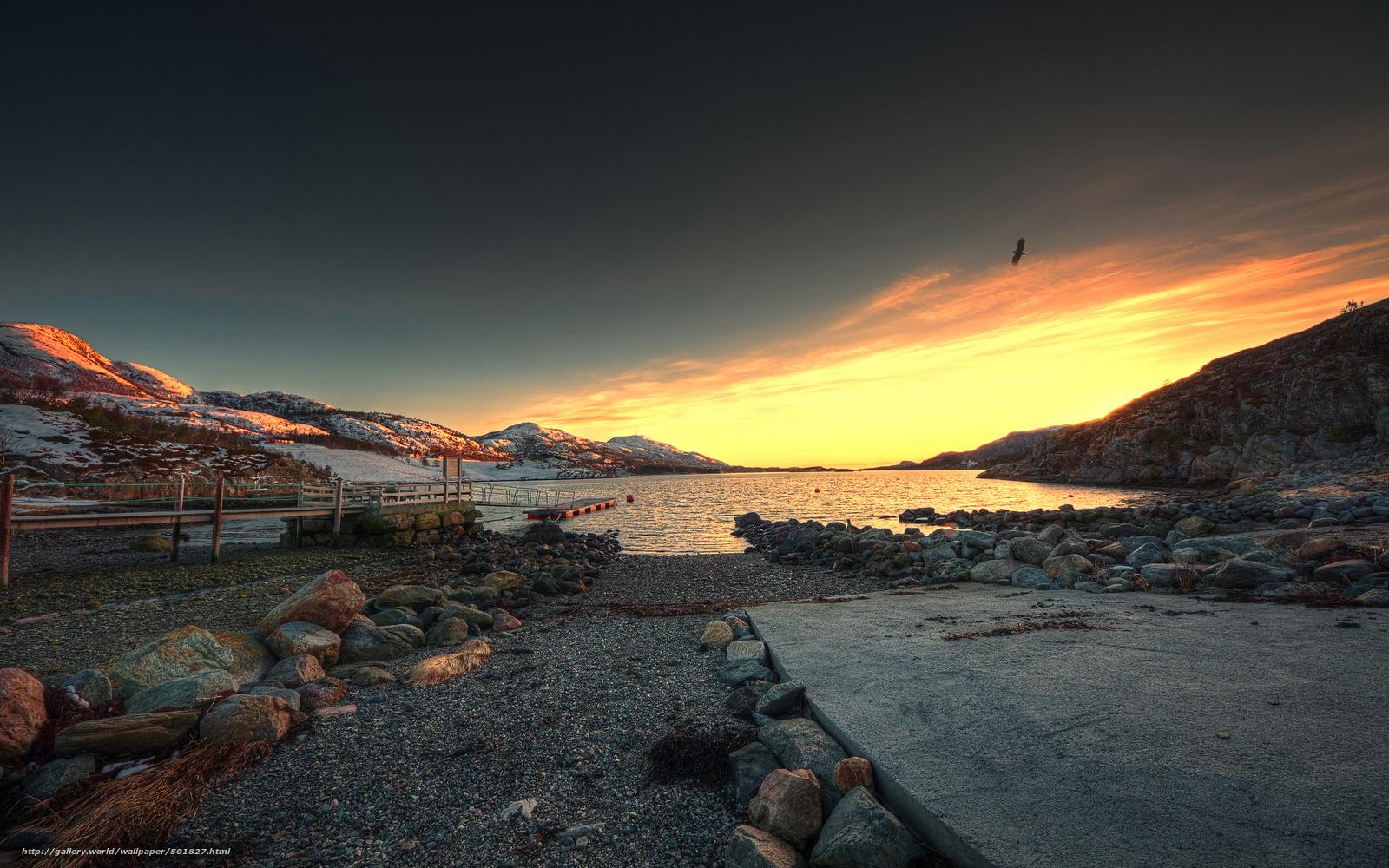 wallpapers sunset coast stones wallpaper desktop lake gdefon 1600x1000