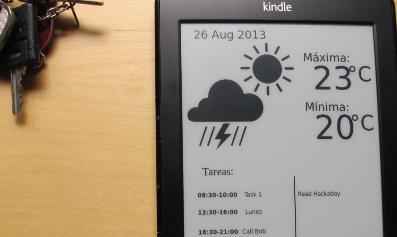 Kindle hack adds value to the wallpaper Hackaday 800x479