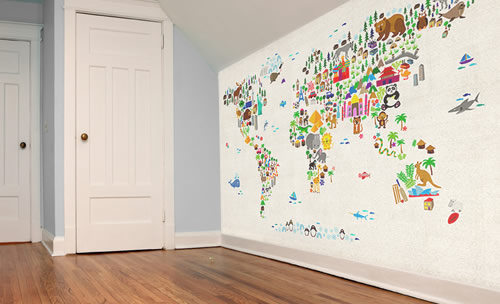 World map wallpaper for kids wallpapersafari for Home wallpaper world map