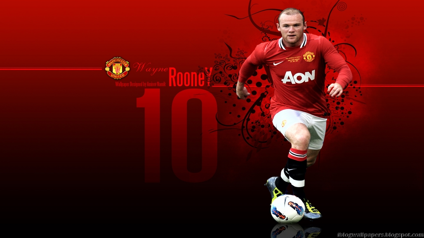 Wayne Rooney Manchester United Wallpaper HD Download Wallpaper 1366x768