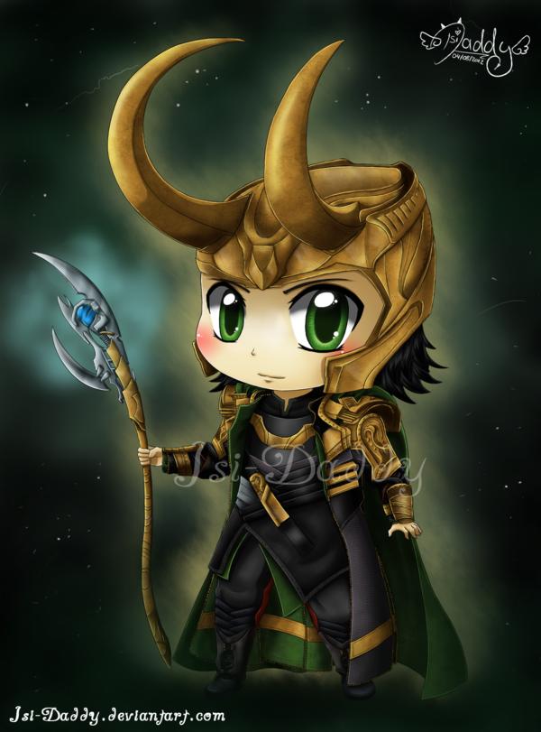 Chibi Loki Laufeyson   God of Mischief by Isi Daddy 600x811