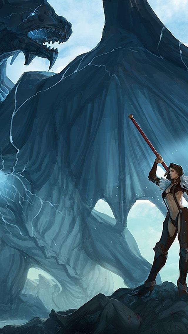 Fantasy Dragons Art Wallpaper   iPhone Wallpapers 640x1136