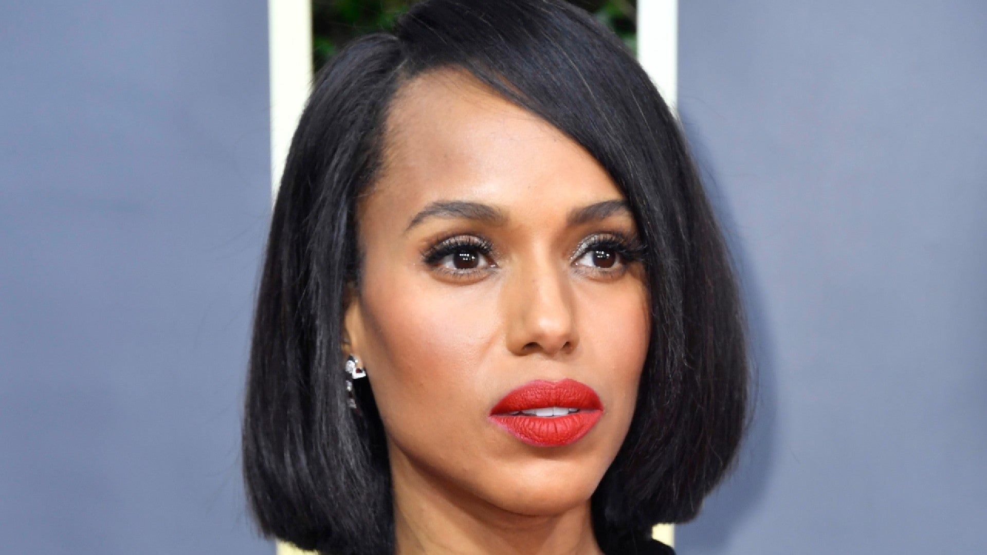 Kerry Washington Wore Her Natural Hair In A Sleek Bob At The 1920x1080