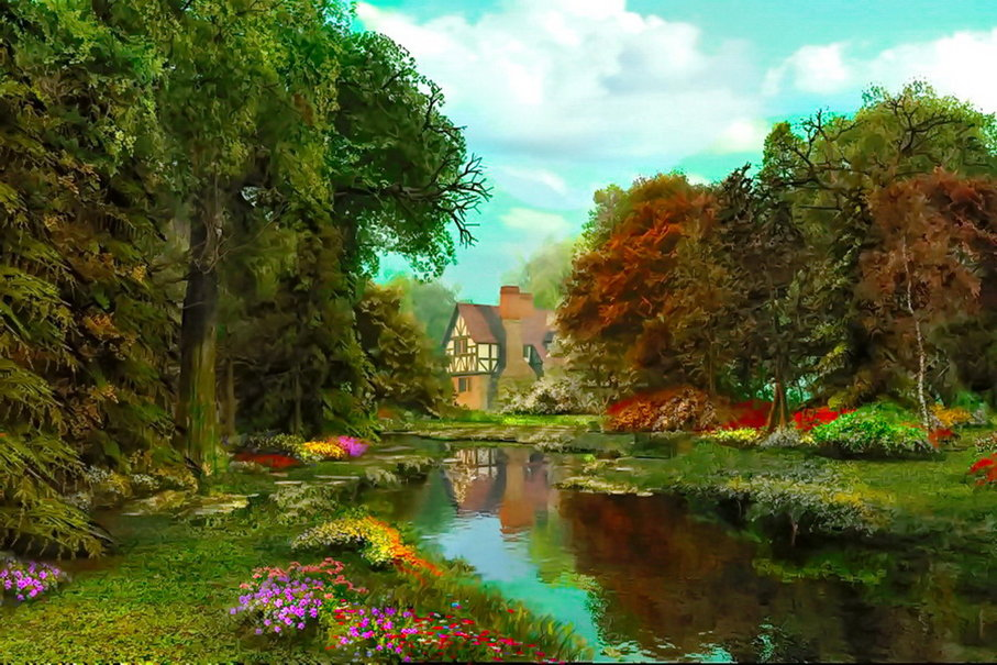 English country garden wallpaper   ForWallpapercom 907x605