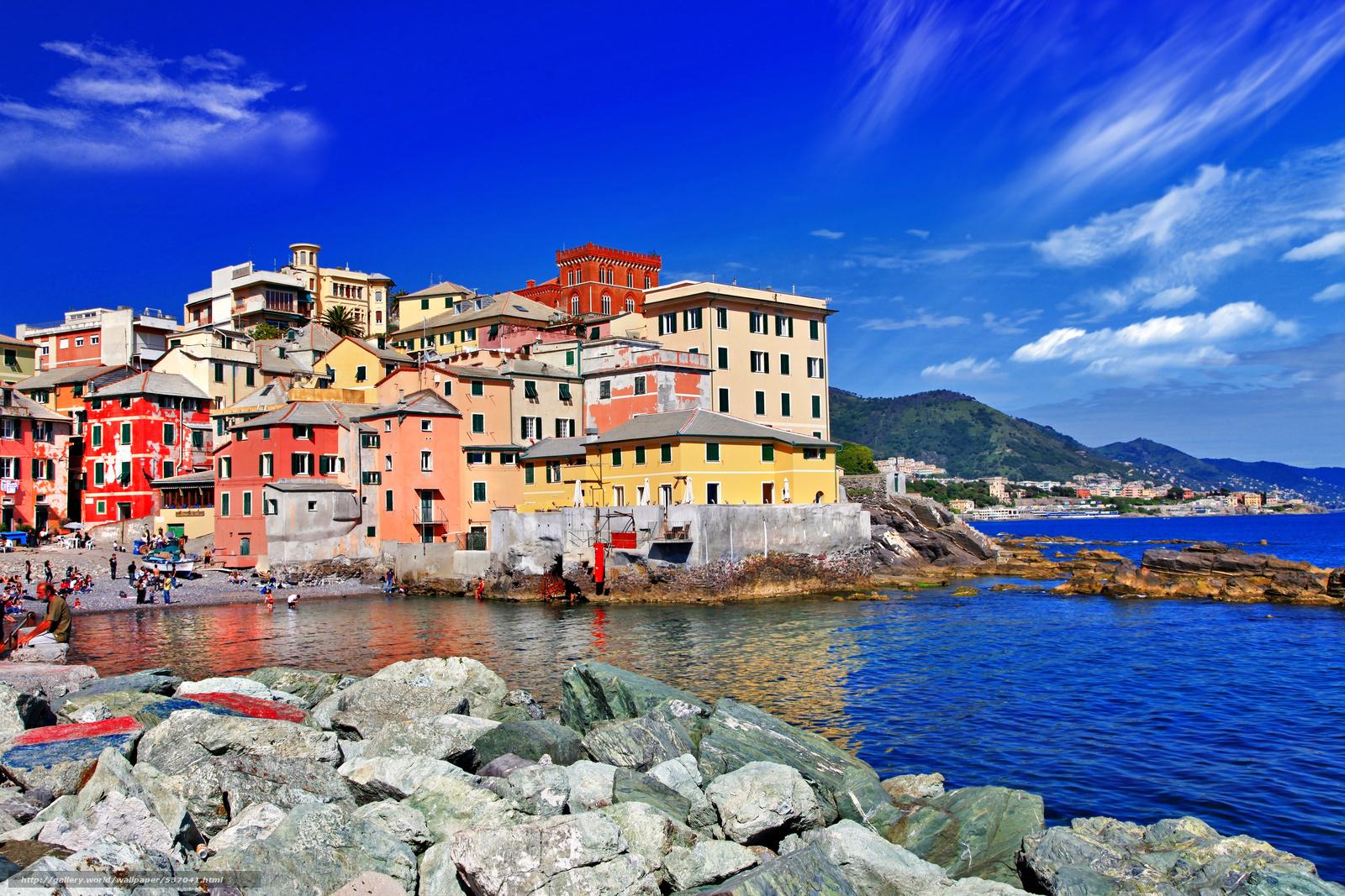 Download wallpaper Genova Liguria Italy desktop wallpaper in 1600x1067