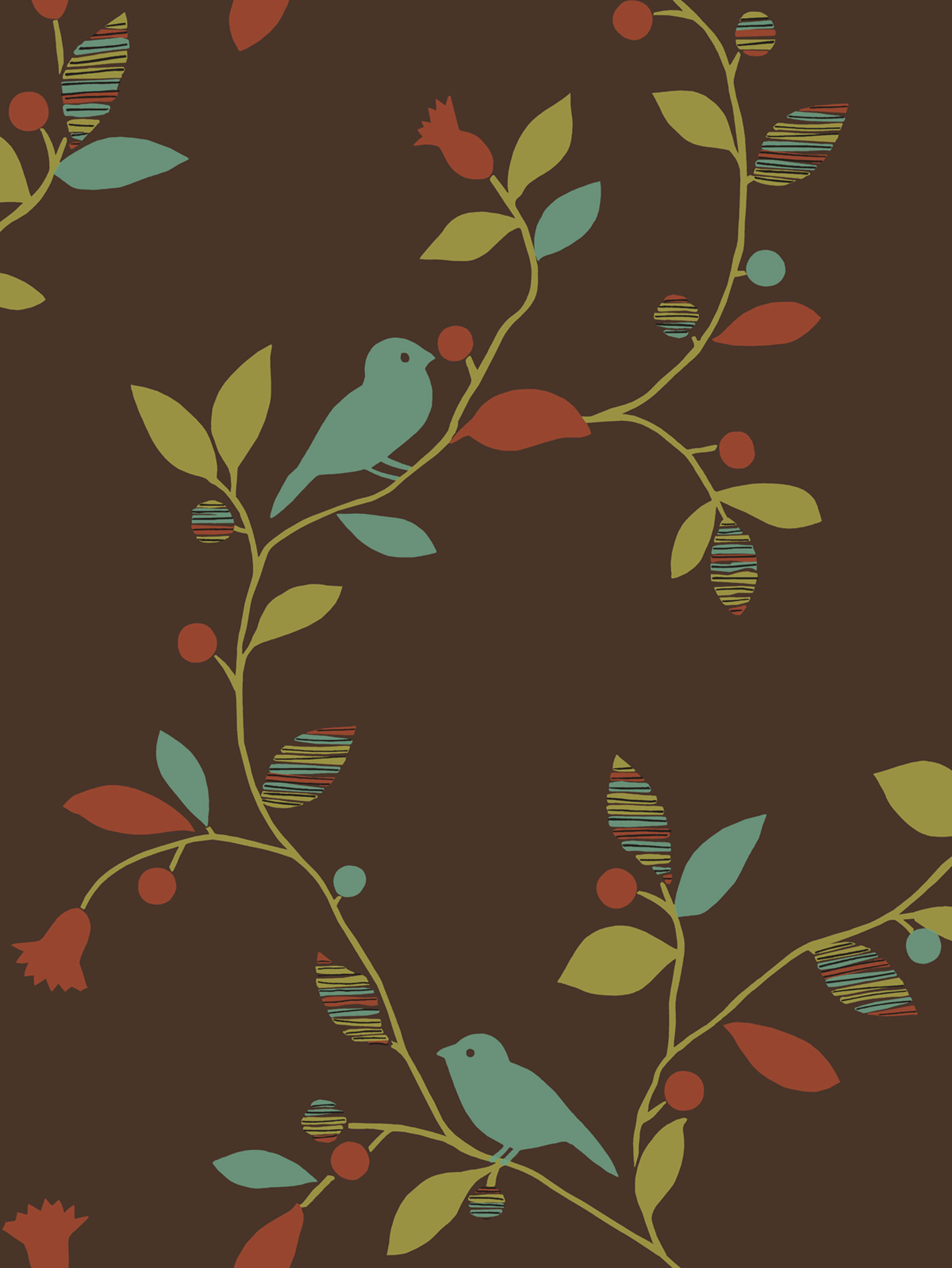 Chic Bird Trail design from Sandpiper Studios Eco Chic wallpaper 2400x3198