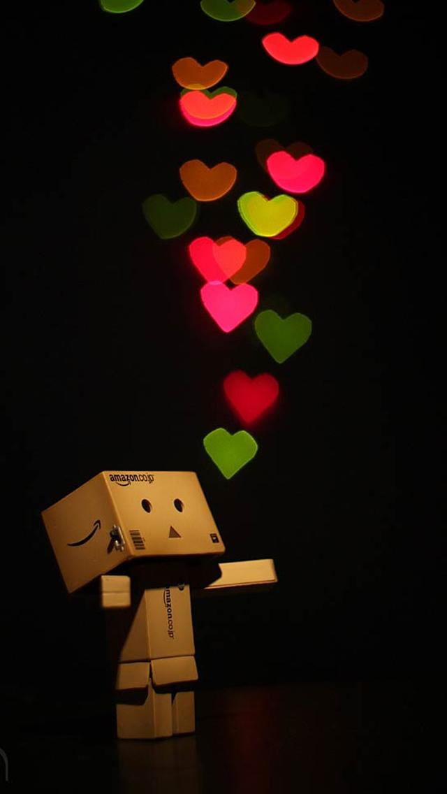 Cute Danbo love backgrounds for iphone 5 640x1136