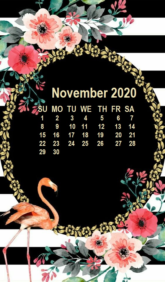 Monthly 2020 iPhone Calendar Wallpaper 564x965