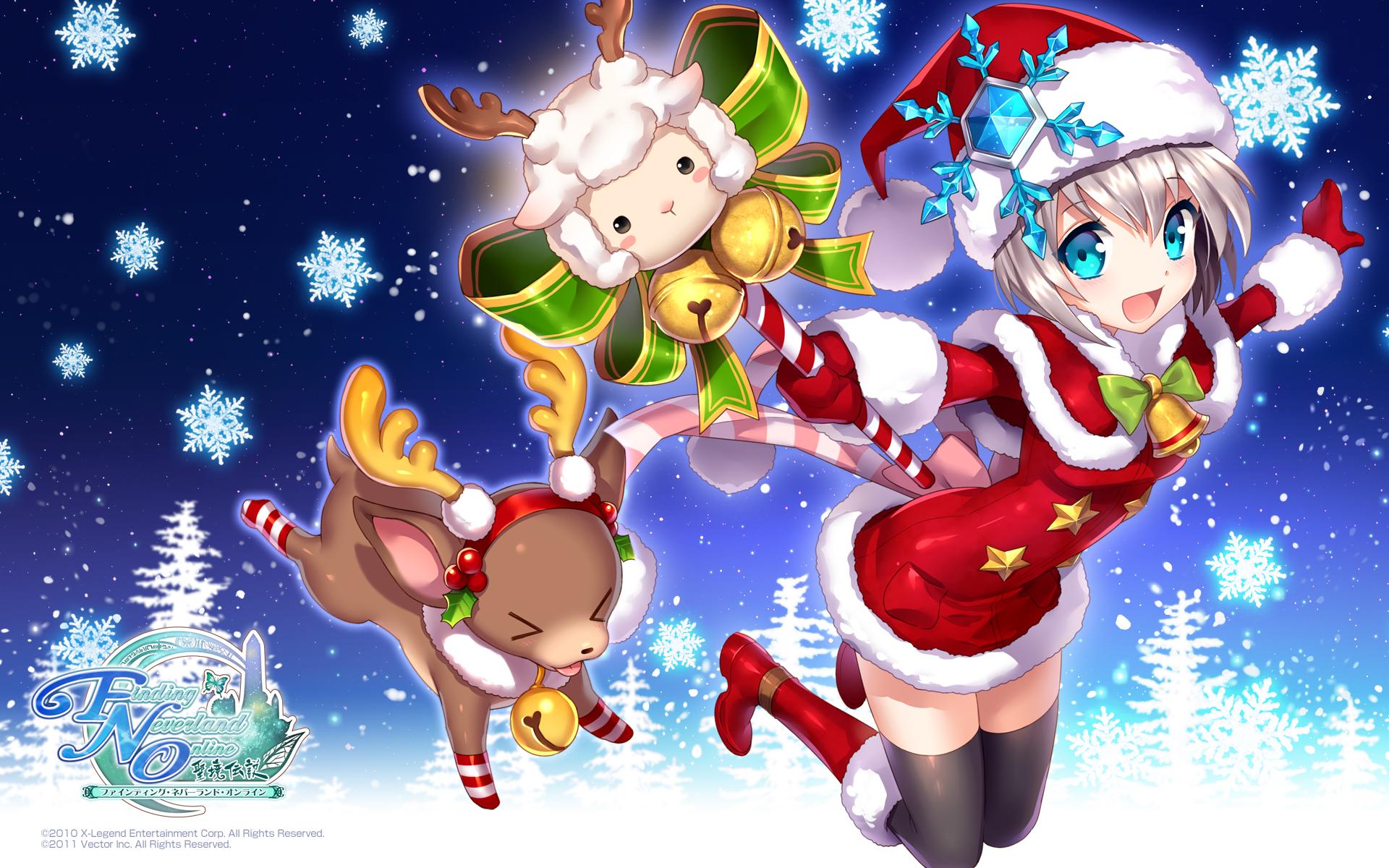 44 Anime Christmas Wallpaper Hd On Wallpapersafari