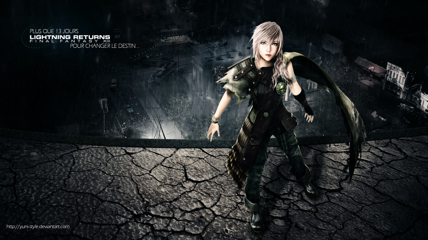 final fantasy xiii desktop wallpaper download lightning returns final 1366x768
