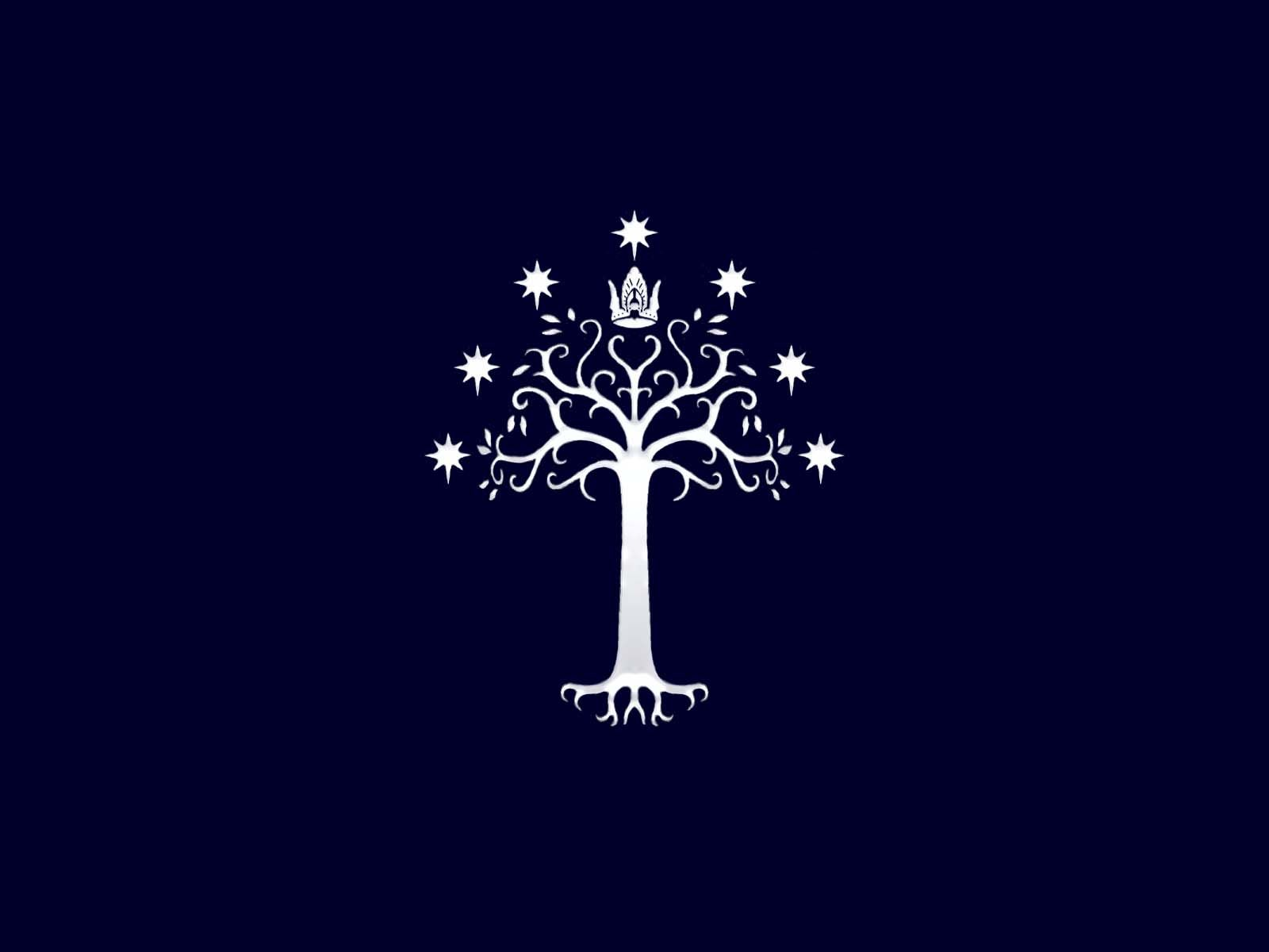 Gondor Pices The Lord of the Rings sigil white tree wallpaper 1600x1200