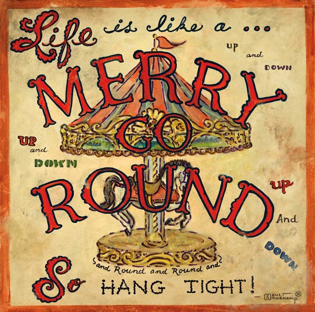 Life Is Like A Merry Go Round Wall Mural   Contemporary   Wallpaper 640x634