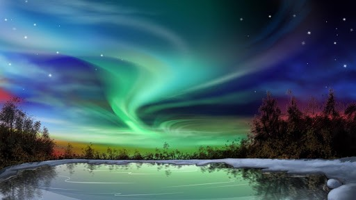 Aurora Live Wallpaper App for Android 512x288