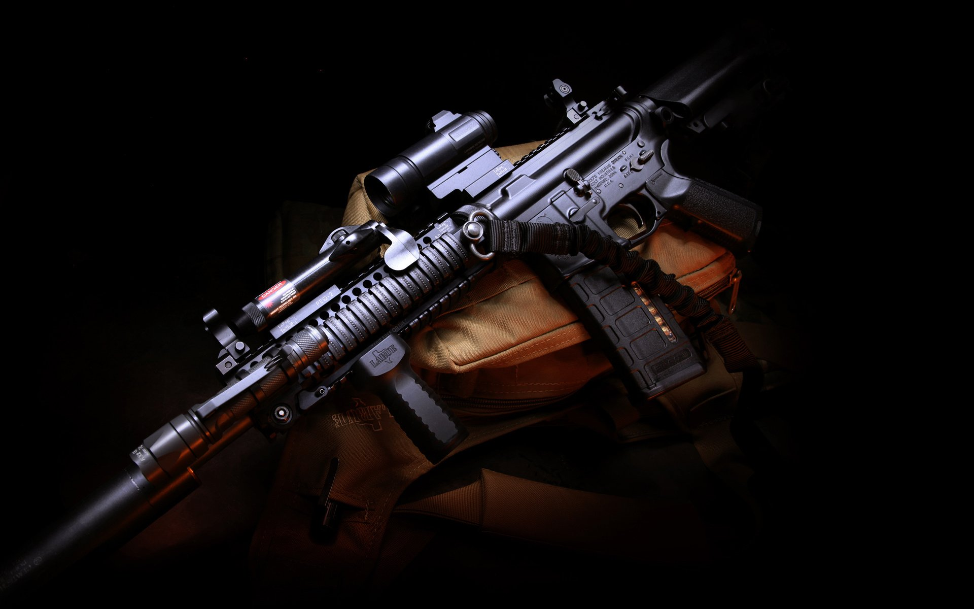 Weapon M4 Assault Carbine Gun Rifle Military Police Wallpaper 1920x1200