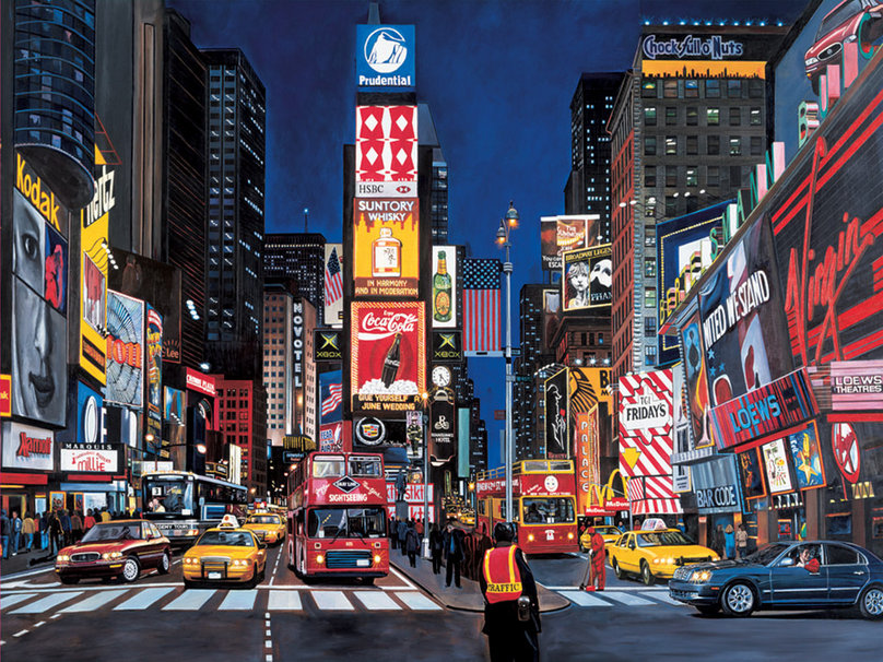 Times Square wallpaper This awesome image is our wallpaper of the day 808x606