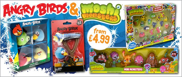 2012 10 31 Angry Birds Moshi Monsters from 499 at BM Bargains 710x300