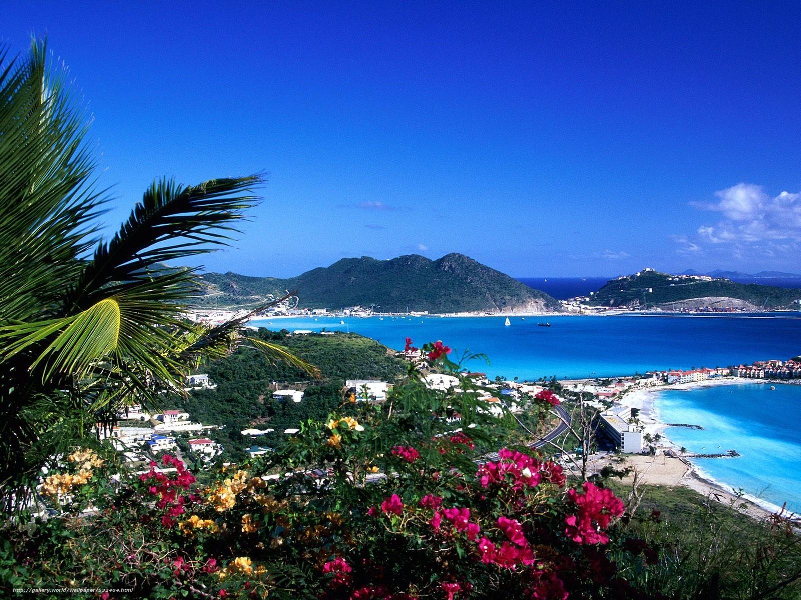 wallpaper Caribbean Island beach landscape desktop wallpaper 1600x1200