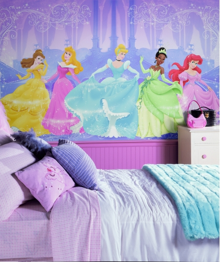 Murals Disney Kids Perfect Princess Prepasted XL Sized Wallpaper Mural 450x535