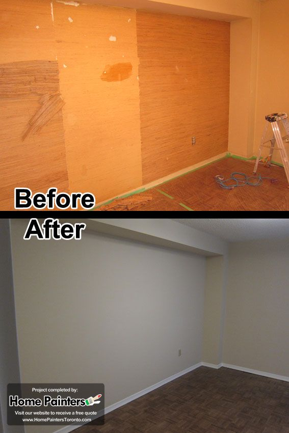 Removing wallpapers in an apartment in Toronto Mid town by 567x850