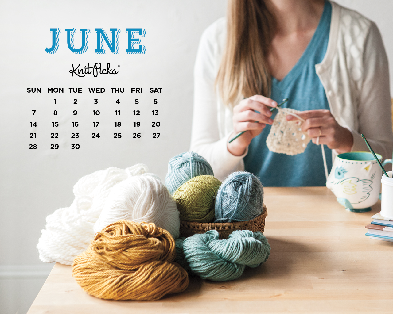 June 2015 Wallpaper Calendar   KnitPicks Staff Knitting Blog 1280x1024