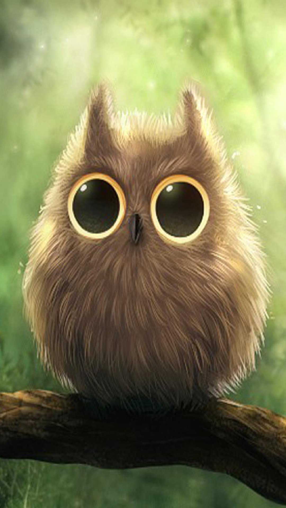 Cute Big Eyes Owl Android Wallpaper download 1080x1920
