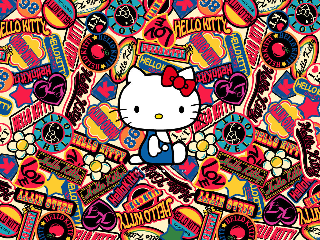 Hello Kitty Logos   Sanrio Wallpaper 2359052 1024x768