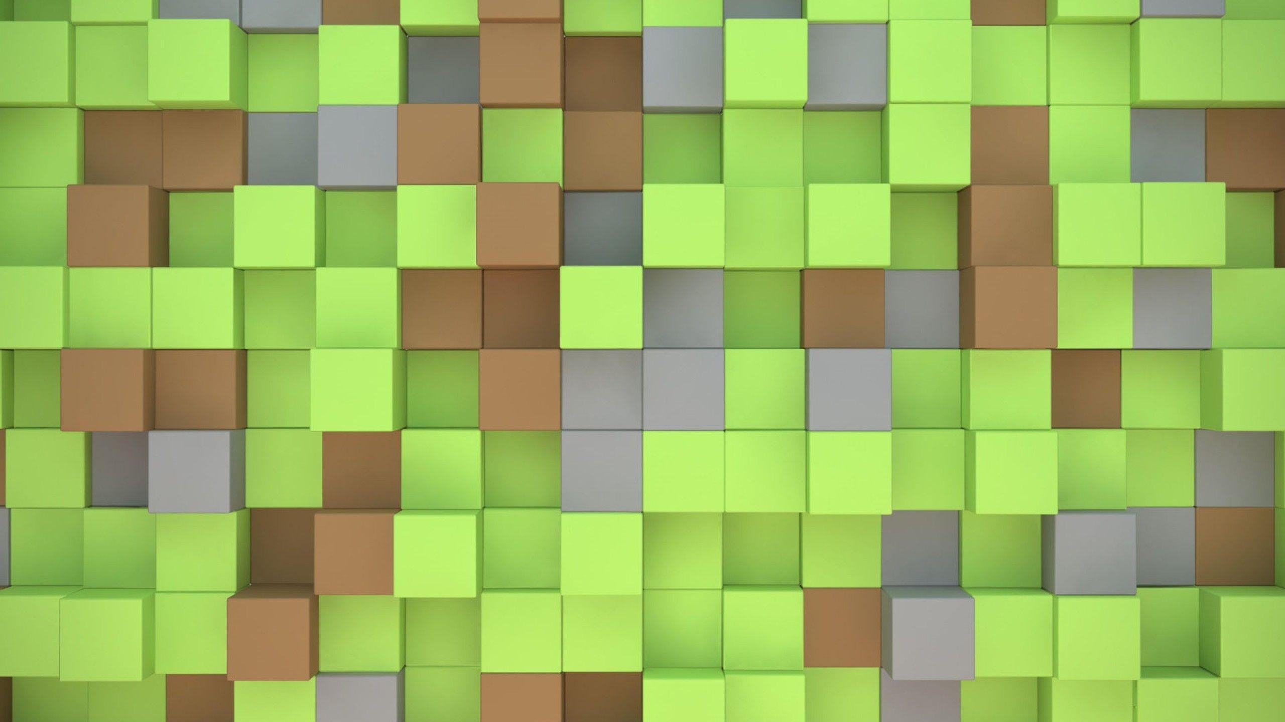 minecraft cubes 3D 1440x2560 Minecraft wallpaper HD 2560x1440