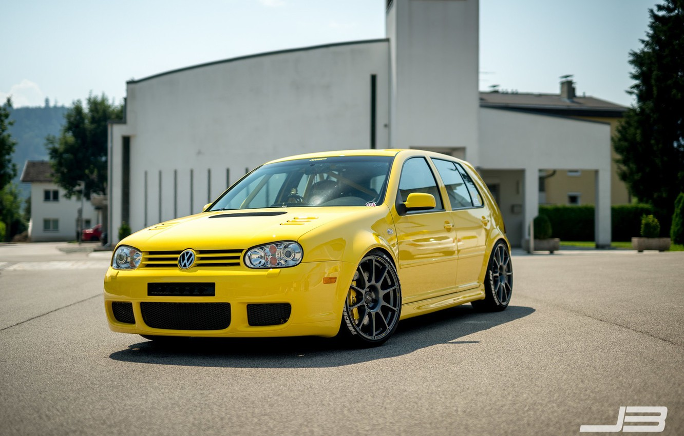 Wallpaper volkswagen turbo wheels Golf golf tuning front 1332x850
