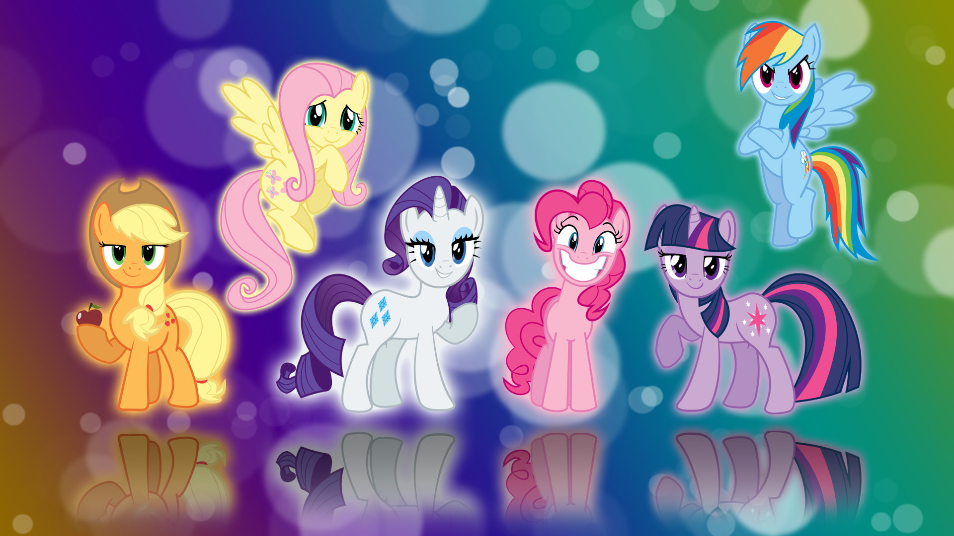 My Little Pony FIM Six Mane Wallpaper by BlueDragonHans 1920x1080