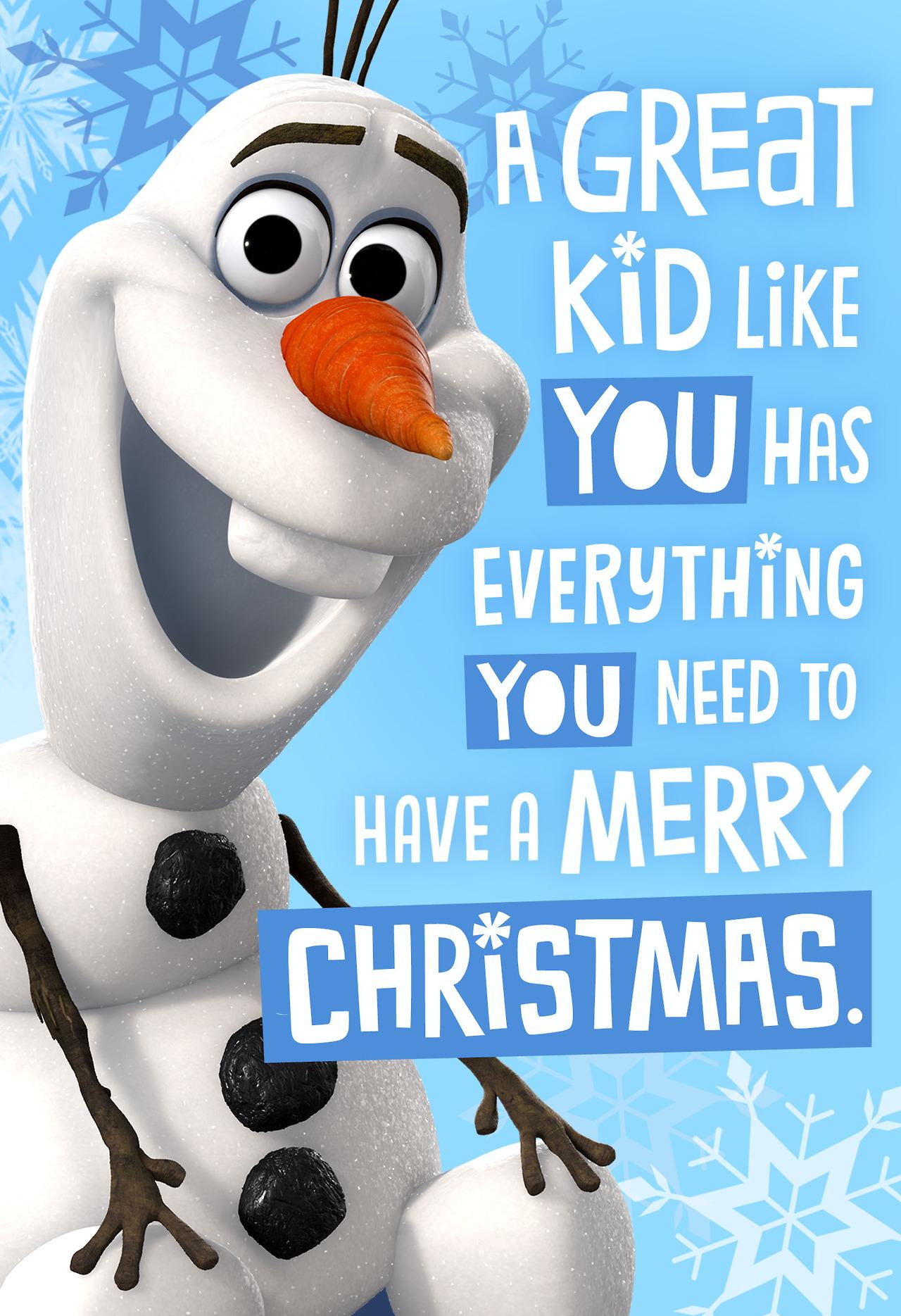 Olaf Christmas card from Hallmark   Frozen Photo 37216531 1280x1869